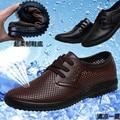 Лето-мужчин сандалии из натуральной кожи вырез отверстие обувь дышащая парадные мужские холодные кожаные