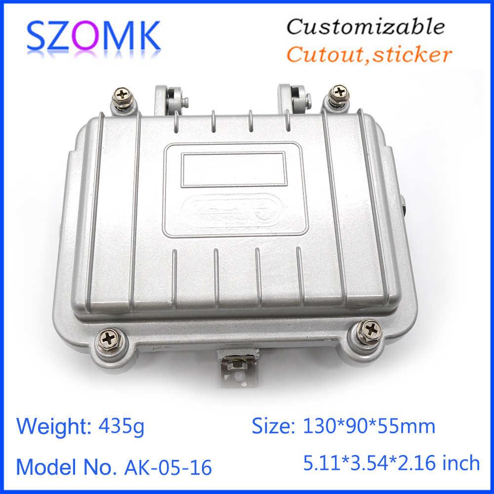 Цельный литой алюминиевый корпус усилителя IP68 водонепроницаемый герметичный корпус для электроники SZOMK распределительная коробка для Открытый Чехол