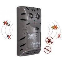 Şarj edilebilir Ev Çift Kafa Elektronik Ultrasonik Pest Kontrol Kovucu Düşük Alt Haşere Fare Böcek Kemirgen Kovucu Aracı