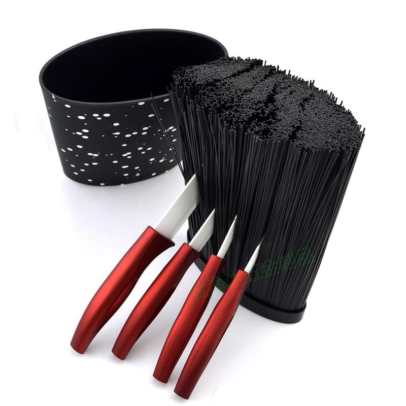 Новинка, бесплатная доставка, 16X22 см, овальная форма, пластиковый универсальный держатель для ножей с черной нейлоновой вставкой, подставка