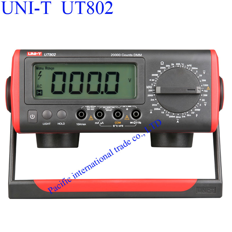 UNI-T UT802 Bench Type Multimeter Digital with Thermometer, LCD Display, Data Hold Automatic Range  Ammeter Multitester  цены