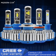 MODERN CAR Headlight H7 H4 CR-Chips LED Fog Lights H8 H11 9005 9006 H1 H3 9012 H13 9004 9007 60W 6000lm Auto Bulb Headlamp 6000K
