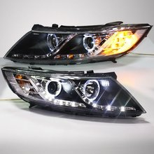 Для Kia K5 светодиодный головной фонарь ангельские глазки 2012