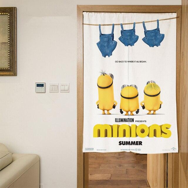 Polyester 3D Tür Vorhänge Cartoon Kleinen Gelben Menschen Muster ...