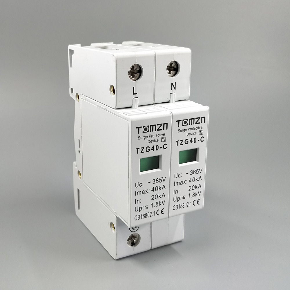 AC SPD 1P+N 20KA~40KA  C ~385VAC House Surge Protector protection Protective Low-voltage  Arrester DeviceAC SPD 1P+N 20KA~40KA  C ~385VAC House Surge Protector protection Protective Low-voltage  Arrester Device