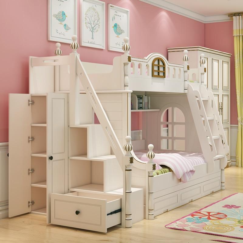 American Design White Children's Bed 1.2 M Bed Bunk Bed Girl Children's Furniture Bed