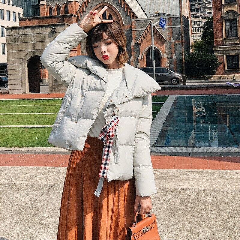 Vestes d'hiver femmes coton femmes court paragraphe 2019 hiver nouvelle lâche épaisse grand revers coton manteau sustans