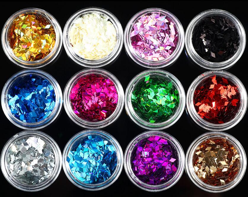 Nails Art & Werkzeuge Methodisch 12 Töpfe In 1 Nail Art 2mm Diamant Raute Festival Gesicht Glitter Chunky Mix 3 Gramm Topf
