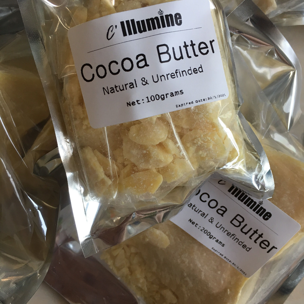 Cocoa Butter 100% Pure Natural Raw cacao fat ! Raw high quality Handmade Soap Ingrediants