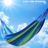 High Quality Portable 180 Kg Load Bearing Outdoor Garden Hammock Hang BED Travel Camping Swing Canvas