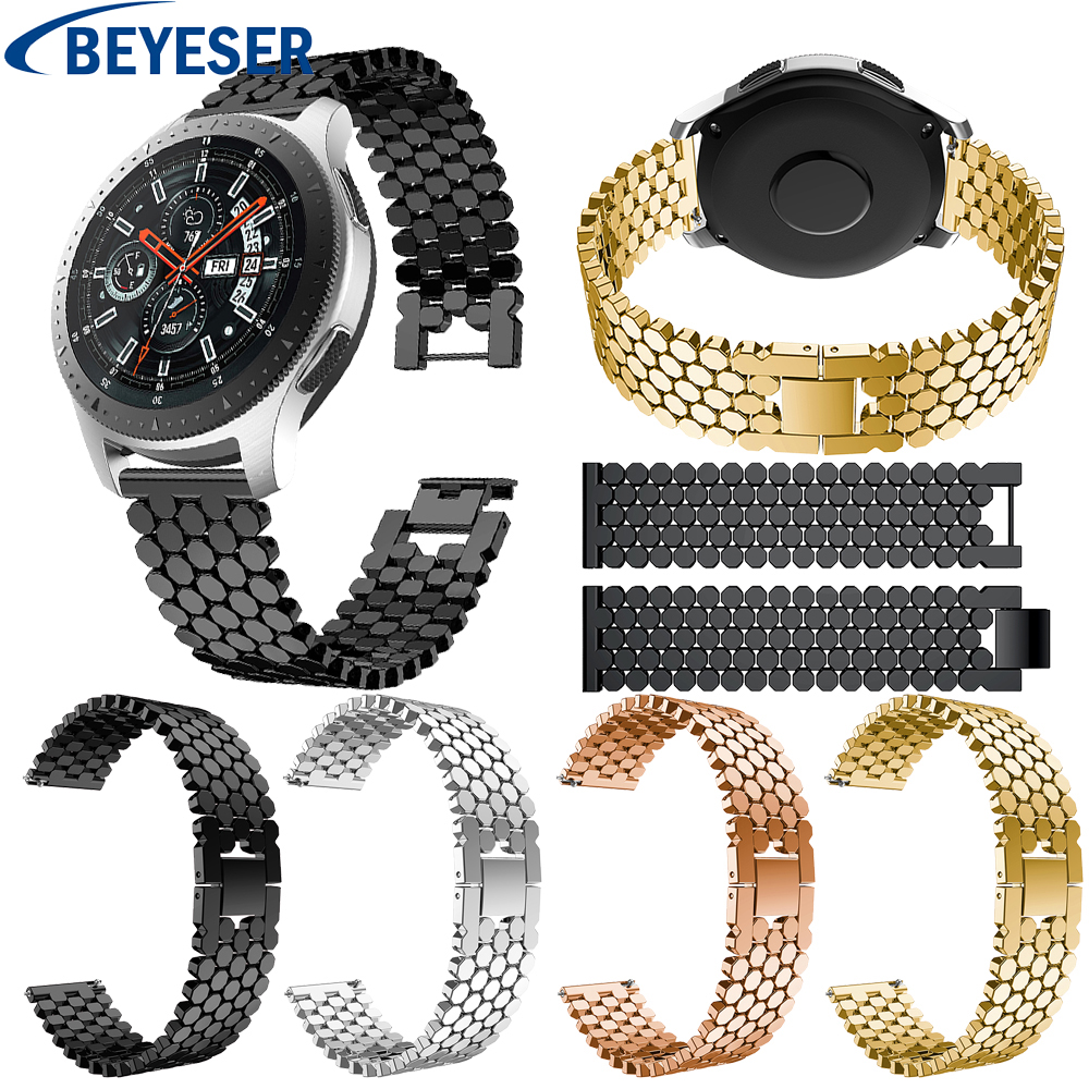 22mm Stainless Steel Watchband for Samsung Gear S3 WatchBand Wrist Strap Link Bracelet for Samsung Galaxy Watch 46mm Watch Strap 22mm20mm for samsung galaxy 42 46mm