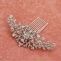 Elegant Crystal Rhinestone Wedding hair accessories Bride Bridal Floral Hair Comb Head Pieces hair jewelry Rhinestone Crystal