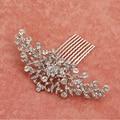 Elegant Crystal Rhinestone pelo de La Boda accesorios de La Novia Nupcial Floral Peine Del Pelo Cabeza de Piezas de joyería de diamantes de Imitación de Cristal