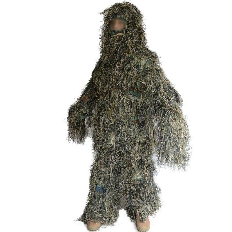 CS Camouflage vêtements 3D chasse Airsoft vêtements cachés tactique Yowie sniper Bionic ghillie costume veste et pantalon
