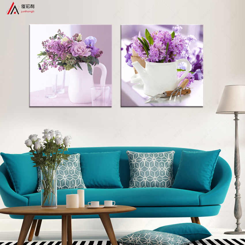 2 Pieces Home Decoration Modular Painting Modern art flower HD print canvas  oil painting wedding decoration. Online Get Cheap Decoration Pieces  Aliexpress com   Alibaba Group