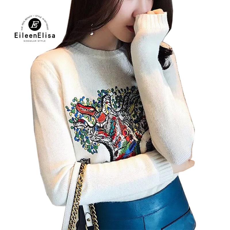 Chaud Cachemire Longues Chandail Automne Femmes 2018 Mode Femelle Hiver En Manches Pull blanc Pulls Gris 8TYXgU