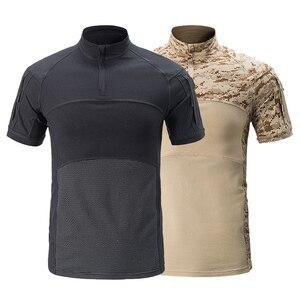 Image 4 - Mega kamuflaj askeri tişört erkekler yaz RU kurbağa askerler savaş taktik T Shirt askeri kuvvet Multicam Tee Camo kısa kollu