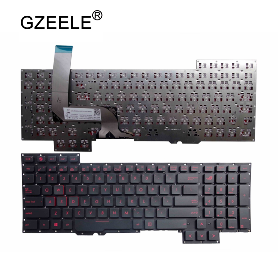 GZEELE New for ASUS g751jl-bs17t28 G751JT-CH71 G751JM-BHI7T25 US layout laptop keyboard G751 G751J G751JL G751JM G751JT G751JY  GZEELE New for ASUS g751jl-bs17t28 G751JT-CH71 G751JM-BHI7T25 US layout laptop keyboard G751 G751J G751JL G751JM G751JT G751JY