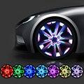 Cores doces Flash Solar Luz LED RGB Lâmpada Estilo Do Carro Remontagem Tampa do Cubo da roda Aro Decoração Fresca para BMW Benz Audi VW Toyoto