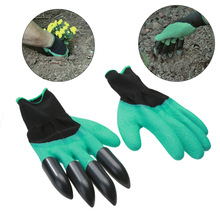 High Quality 1 Pair Rubber Polyester Builders Garden Work Latex Gloves ABS Plastic Claws for Household