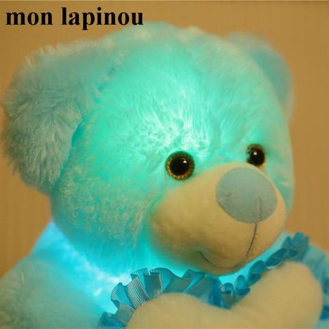 bonito abraco de urso ouvir brinquedos luminosa