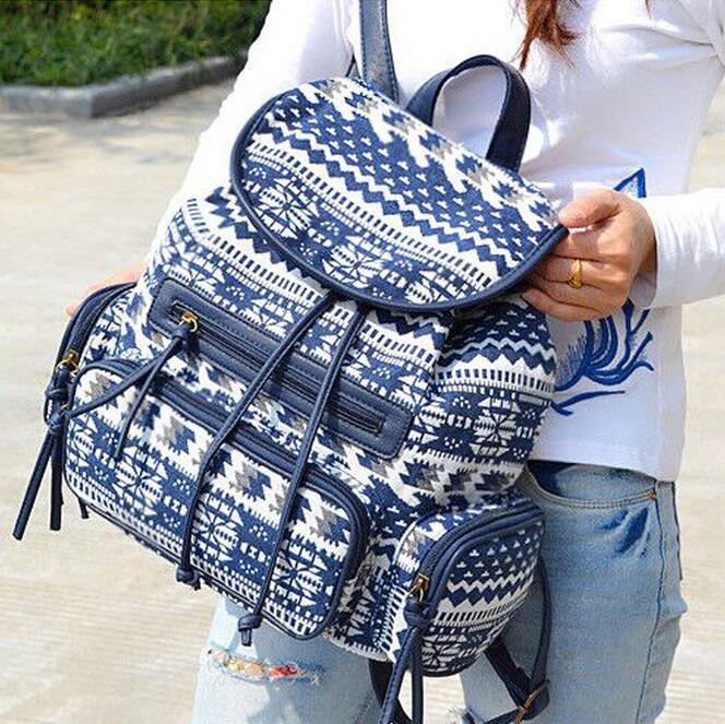 2017 Fashion bohemian printing backpack ladies bolsas mochila School Bags For Teenagers Girls Female Travel Vintage BackPack