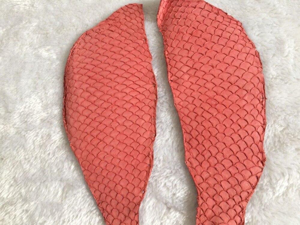 9 из натуральной рыбьей кожи для обуви, розовый цвет натуральной кожи рыбы, FL-11
