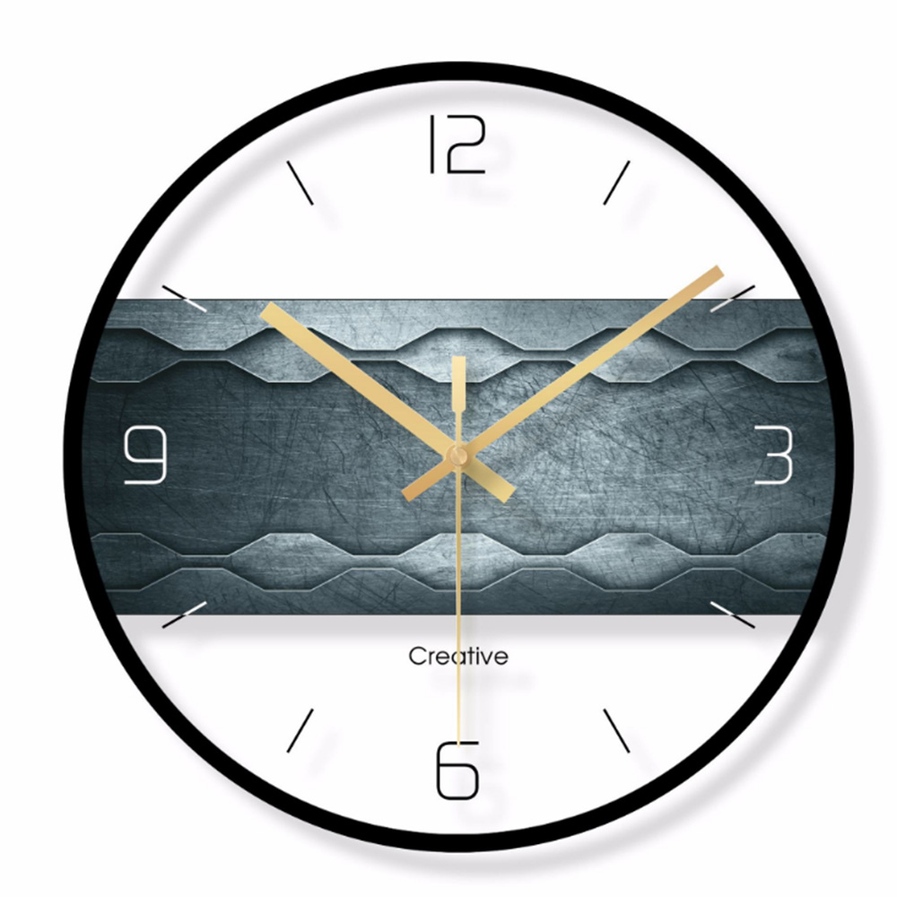 שעון קיר בשילוב פלטת עץ 4
