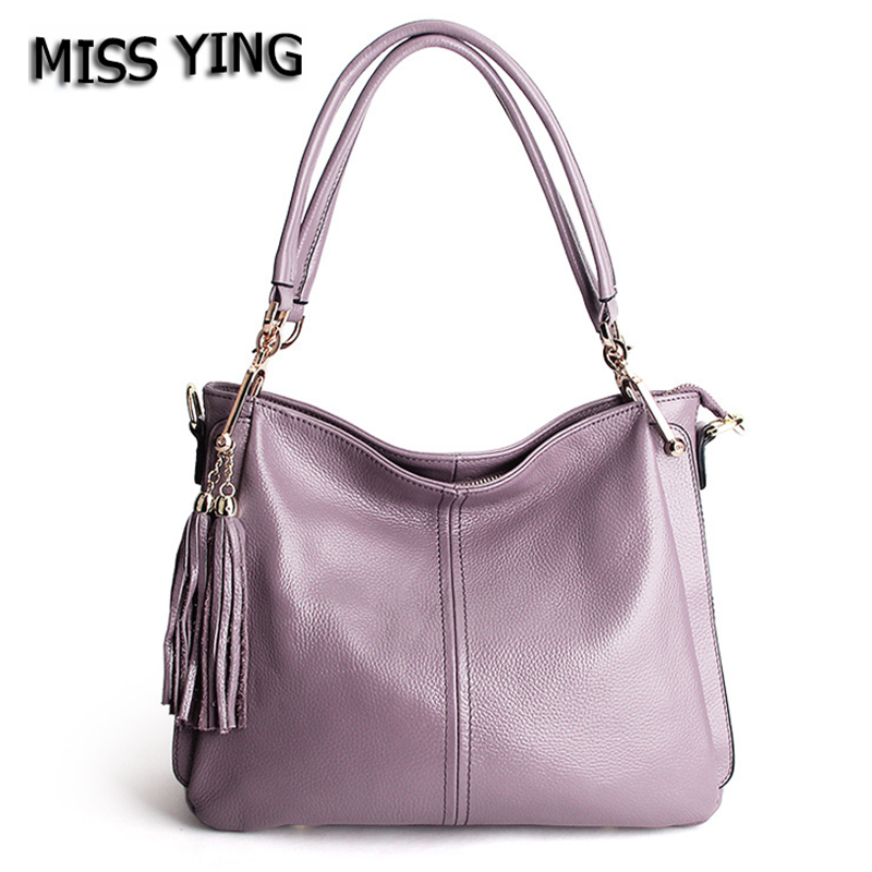 MISS YING Brand Women Genuine Leather Casual Shoulder Bag Designer High Quality Messenger Bags Ladies Tassel Cow Leather Bags браслеты element47 by jv toe 340 60139