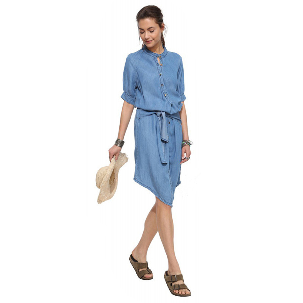 2017 fashion maternity cotton short sleeve mini causal loose dress 2017 fashion maternity cotton short sleeve mini causal loose dress belt classic fitting jean denim shirt dress with sash in dresses from mother kids on ombrellifo Image collections
