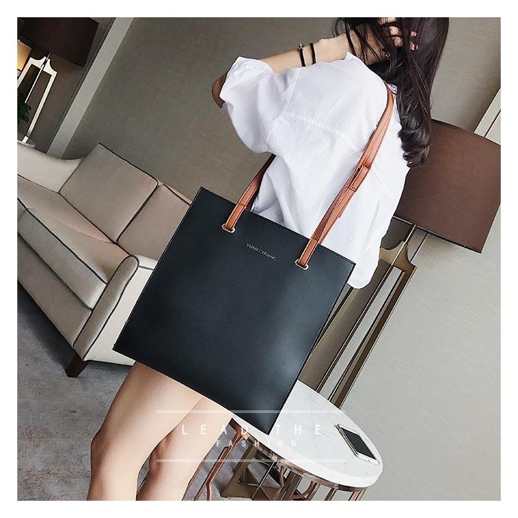 coreana tendência bolsas, cor sólida bolsa feminina, lazer bolsa de ombro.