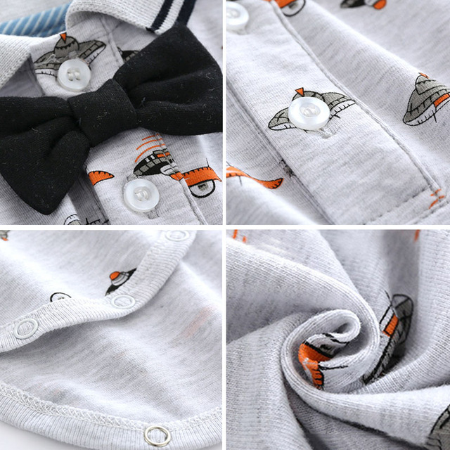 Maluch chłopiec odzież zestaw lato noworodek chłopcy łuk ślub body niemowlęce statek kosmiczny drukuj zestaw niemowlę dzieci sukienka ubranka dla dzieci