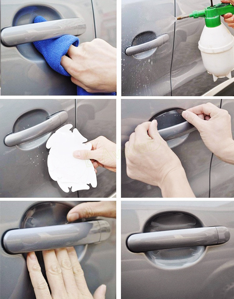 How to Use Car Exterior Transparent Sticker for Handle Protection