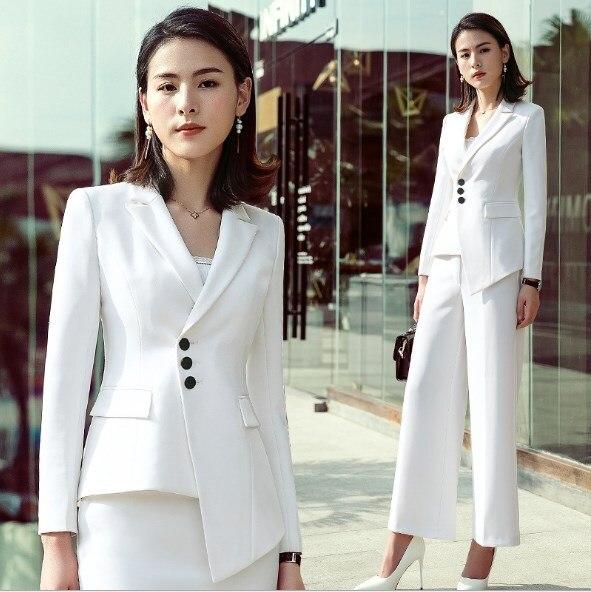 2 pièces ensemble Blazer avec jupe bureau uniformes conceptions femmes élégantes jupes costume noir blanc bureau dames affaires travail tenue
