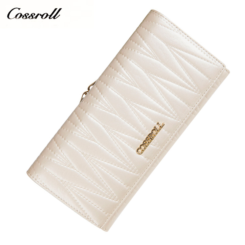 Genuine leather Brand Design Women Wallets Ladies Clutch Hand Bag Famous Brands Woman  Purse Long Female Wallet women genuine leather character embossed day clutches wristlet long wallets chains hand bag female shoulder clutch crossbody bag