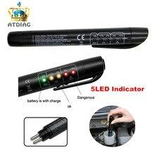 Newest brake Fluid Tester Pen 5 LED Mini Indicator For Car Repairs Tools Vehicle Auto Automotive Brake Diagnostic Tool