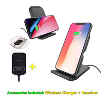 10W Original Qi Wireless Charger For Oneplus 5 Charging Pad With Dual USB Charging Adapter For