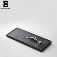 Creative Japanese Metal Tin Stick Incense Holder Burner Pear Flower Aroma Censer Furnace Yoga Living Room