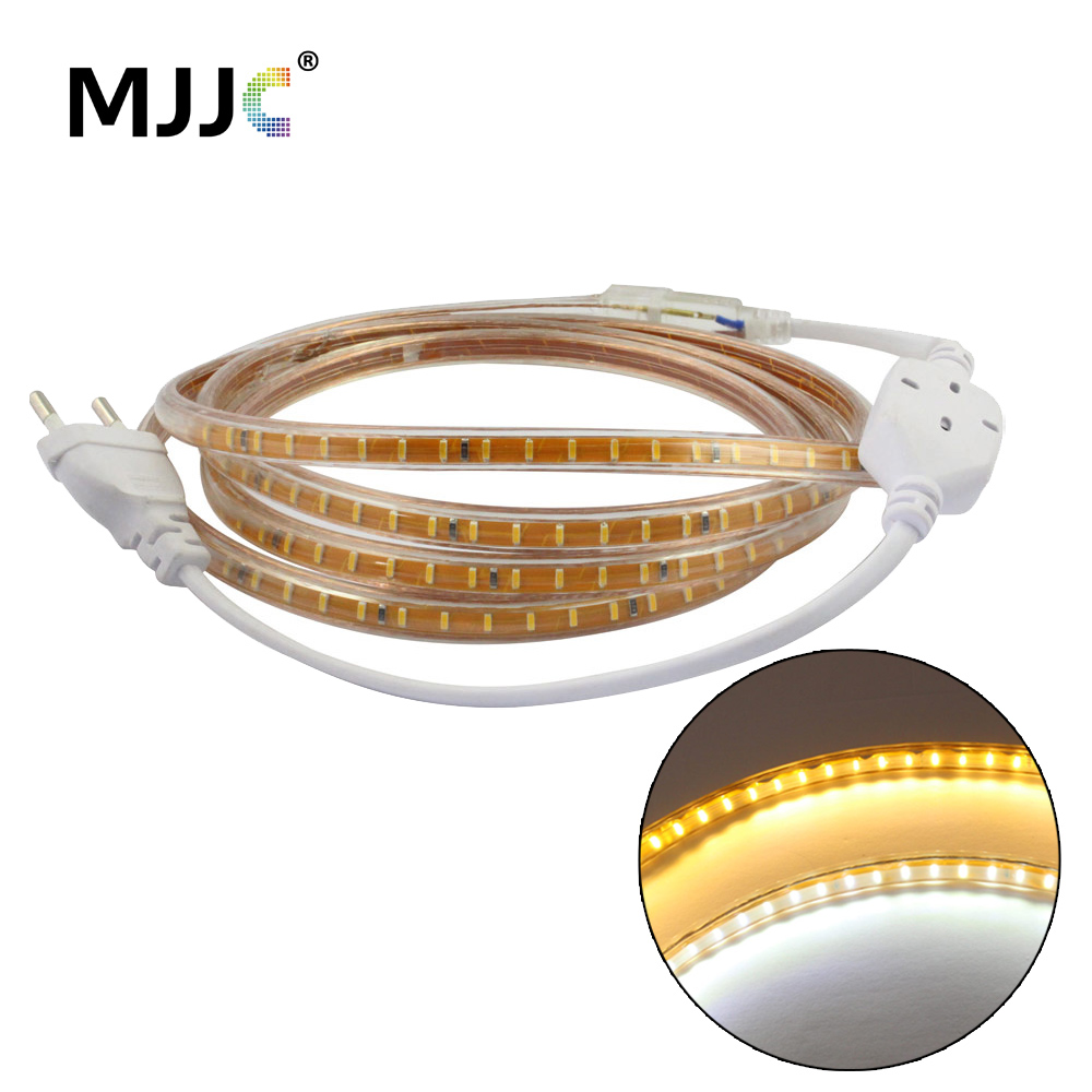 Bande LED 220V CA SMD 3014 120 Bande LED flexible Etanche IP65 Chaud - Éclairage LED