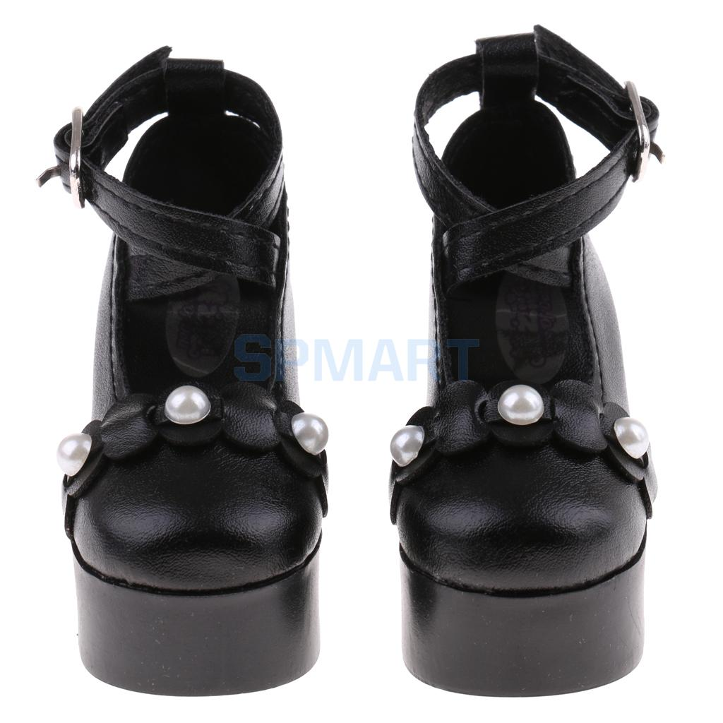 1/3 BJD Strap Buckle Shoes High Heels for SD YOSD Dollfie LUTS AS DZ Doll Sandal Clothes Accessories Black bjd bb black high leather boots for 1 6 yosd super dollfie luts dod as dz doll shoes sb16