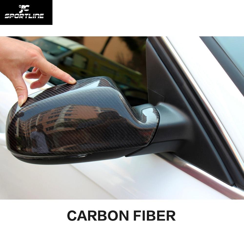 carbon fiber rear review mirror cover car side mirror caps for audi a4 b9 2013