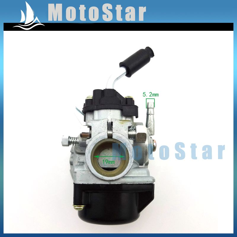 US $22 39 |2 Stroke Engine Racing Carburetor Carb For 50cc 60cc 80cc Gas  Motorized Bike Bicycle 47 49cc Pocket Bike Mini Moto Dirt ATV Quad-in