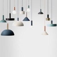 Nordic minimalist fashion pendant lamp, E27 aluminum Tubular pendant lights, Home restaurant decoration lighting