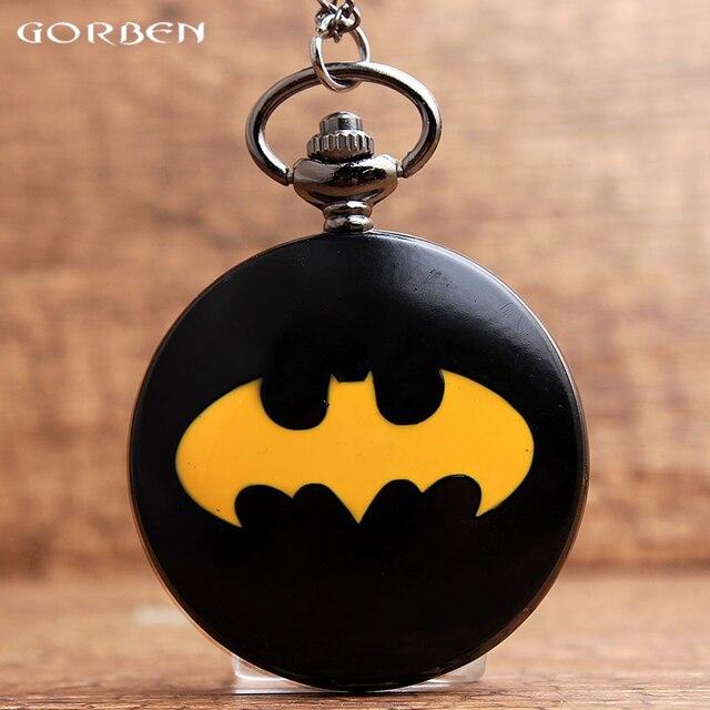 2017 New Arrival Gorben Watch Black Batmen Smooth Dial Roman Numerals Quartz Poc