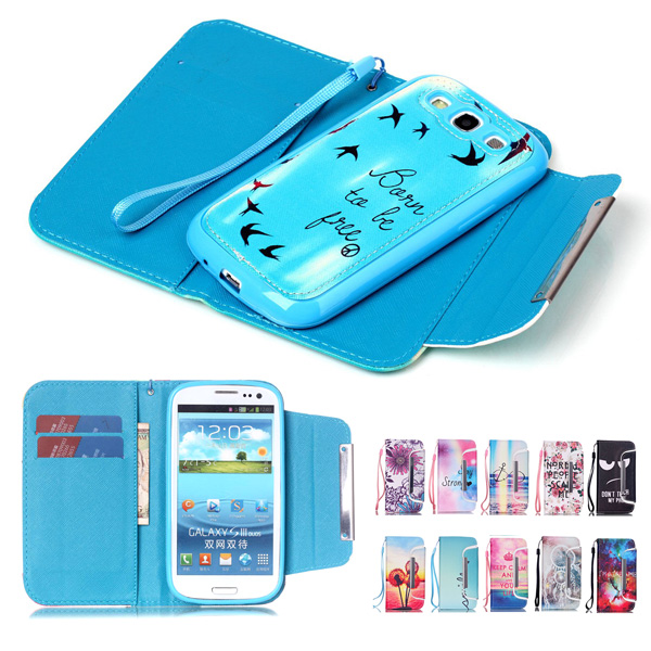 san francisco a5dcb db65d US $7.33 |Fashion Phone Cases for Samsung Galaxy S3 Case 2 in 1 Removable  Flip Stand Leather Wallet Case with Card Slot Holder Phone Bags on ...