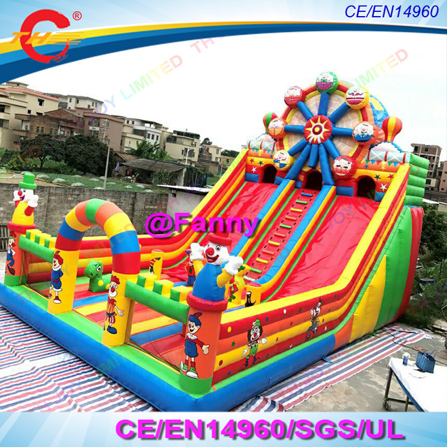 Outdoor Commercial Bounce House Giant Inflatable Funcity