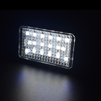 canbus שגיאה חינם 2X 18SMD CANbus שגיאה חינם לבן LED מספר רישיון פלייט אורות מושב Altea Exeo איביזה לאון מעולה Auto Lighting (2)