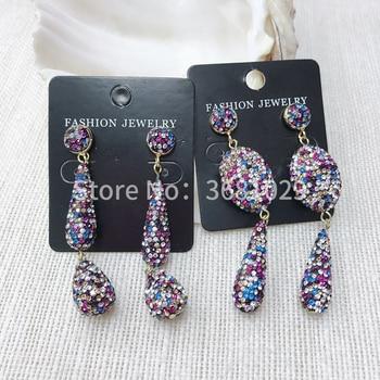 2018 personality fashion popular simple joker earrings elegant atmosphere rhinestone earrings