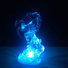 Acrylic Horse Night Light 7 Colors Changing LED Light Home Party Decoration Lamps Wedding Holidays Children Gift Toy Light(China)