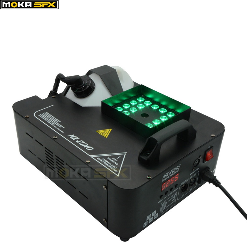 LED fog machine 1500W RGB color 3 in1 12*3w led lamp led smoke machine dmx 512 controller 8 minutes heaterLED fog machine 1500W RGB color 3 in1 12*3w led lamp led smoke machine dmx 512 controller 8 minutes heater